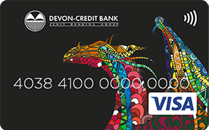 Карта Visa Platinum от Девон-Кредит