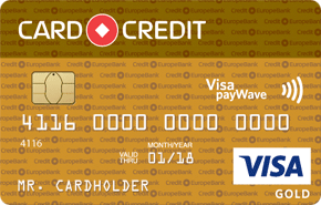 Карта CARD CREDIT Visa Gold от Кредит Европа Банка