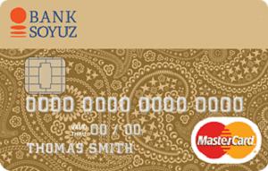 Карта MasterCard Gold от банка Союз