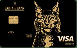 Карта Visa Infinite от банка Ланта